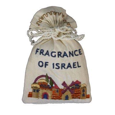 (Embroidered Havdalah Besamim Spice Bag and Cloves - Jerusalem Fragrance - by Yair Emanuel (BBE-1))