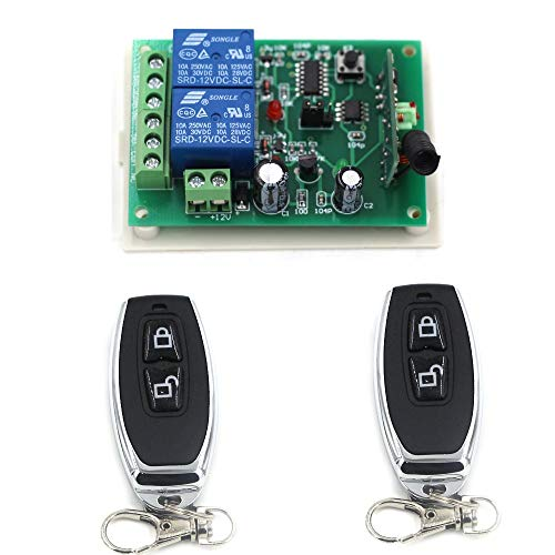 (Top Selling New DC12V 24V 2CH Radio Controller RF Wireless Relay Remote Control Switch Transmitter + Receiver ON OFF Switch - (Color: DC24V433MHZ))