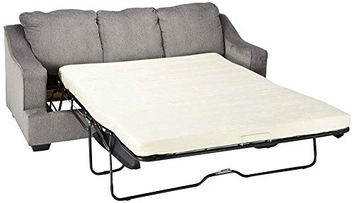Signature Design by Ashley – Gilmer Contemporary Chenille Upholstered Queen Size Sleeper Sofa, Gunmetal