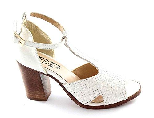 Locura divina 118 zapatos de mujer blanca charleston aparecieron sandalia de tacón Bianco