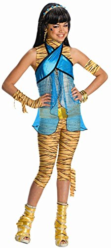 Rubies Cleo de Nile Monster High Girls Halloween Costume - (Monster High Cleo Costumes)