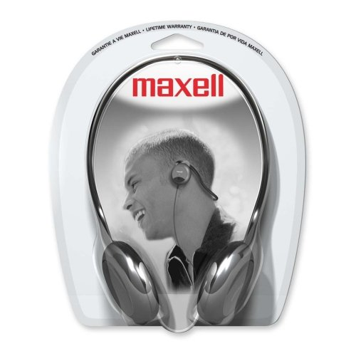 Maxell NB-201 Stereo Neckbands Headphone - Stereo - Black - Mini-phone - Wired - 32 Ohm - 16 Hz 24 kHz - Nickel Plated - Behind-the-neck - Binaural - Ear-cup