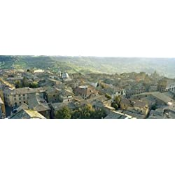 Houses in a town Orvieto Umbria Italy Poster Print (36 x 13)