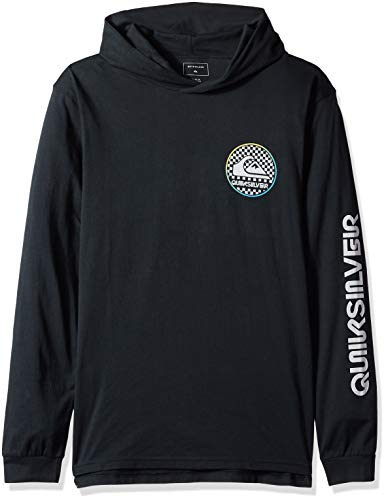(Quiksilver Men's Check This Hoodie, Black, L)