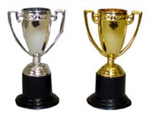 Henbrandt Assorted Mini Trophy - Gold & Silver (Trophy Gold Figure)