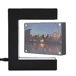 Delaman Photo Frame LED Magnetic Levitation Photo Frame, E Shaped, Led Light Novelty Toy, Home Office Wedding Decoration