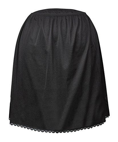 (Valair Women's Classic Half Slip Skirt, 100% Nylon, 20 Inch, X-Large, Black)