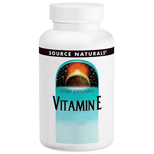 Vitamin E D-Alpha Tocopherol Softgels, 400 IU, 250 Softgel by Source Naturals (Pack of 6)