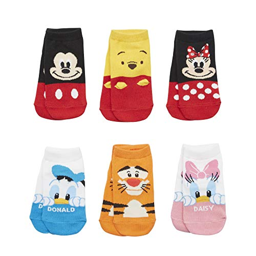 Sockstheway Kids Girls Boys Disney Character Series Ankle Cotton Socks Baby Toddler Child 6 Pairs, Ages 2-3