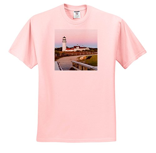 3dRose Danita Delimont - Lighthouses - Highland Light in The Cape Cod National Seashore. Truro, Massachusetts - T-Shirts - Light Pink Infant Lap-Shoulder Tee (24M) - Cod Highland Cape Light