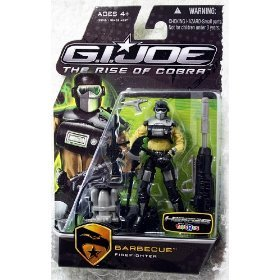 "G.I. Joe The Rise of Cobra 3 3/4"" Exclusive Action Figure Barbecue Firefighter"
