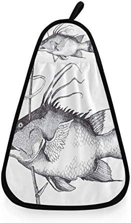 XiangHeFu draagbare Fischer Hunter badhanddoek zeer absorberend ultrazacht handwashandje voor meerdere doeleinden