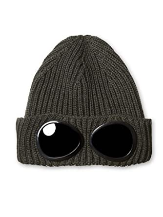 CP Company Hat - Mens Merino Wool Goggle Beanie - One Size  Amazon.co.uk   Clothing 664d887ec87