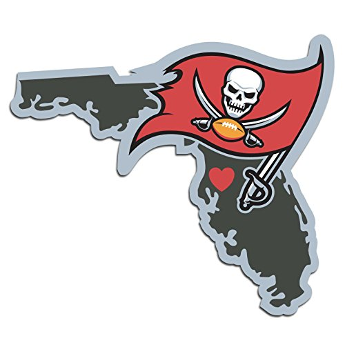 NFL Tampa Bay Buccaneers Home State Automotive Decal, 5