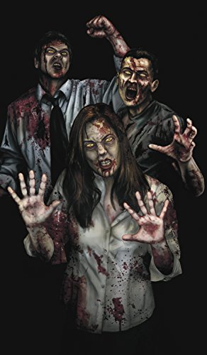 WOWindow Posters Susie's Revenge Zombies Halloween Window Decoration 34.5