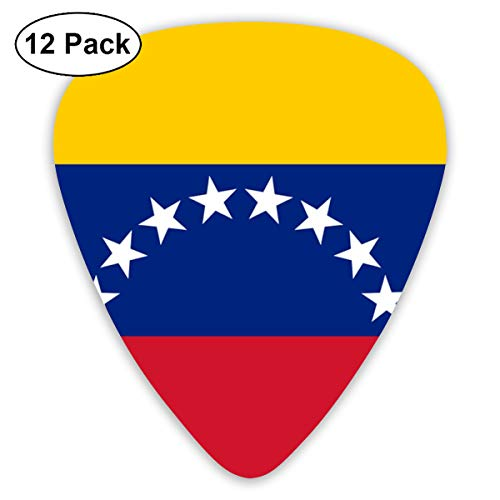(Flag Of Venezuela Proud 351 Shape Classic Celluloid Guitar Pick For Electric Acoustic Mandolin Bass (12 Count))