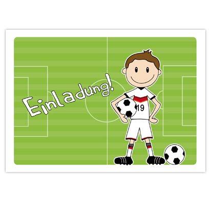 10 Einladungen Zum Kindergeburtstag Fussballer Fur Jungs Zur Fussball Party Einladung Fur Jungs Mit Motto Fussball Einladungskarten Zum