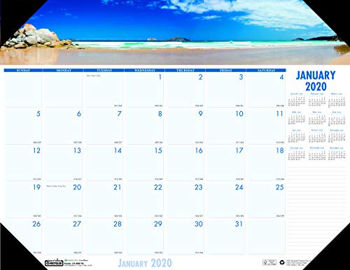 (House of Doolittle 2020 Monthly Desk Pad Calendar, Earthscapes Coastlines, 18.5 x 13 Inches, January - December (HOD1786-20))