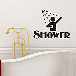 Simayixx Wall Decor Sticker,Decorations For Living Room Stick On Wall Art Shower Removable Art Vinyl Mural Home Room Decor Wall Stickers Wallpaper (Black)