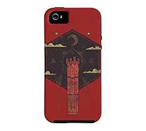 The Crimson Tower iPhone 5/5s Red Tough Phone Case - Design By Humans