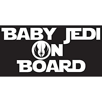 Amazon Com Baby Jedi On Board Decal Sticker Inspired By