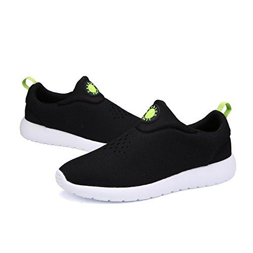 Yuanli Kvinna Andas Löparskor Tillfälliga Walking Sneakers Svart