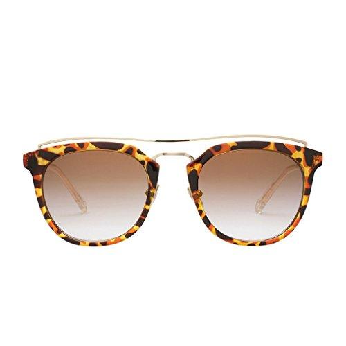 PERVERSE sunglasses Lynna Clubmaster Sunglasses (Jaguar Print, Light - Glasses Jaguar