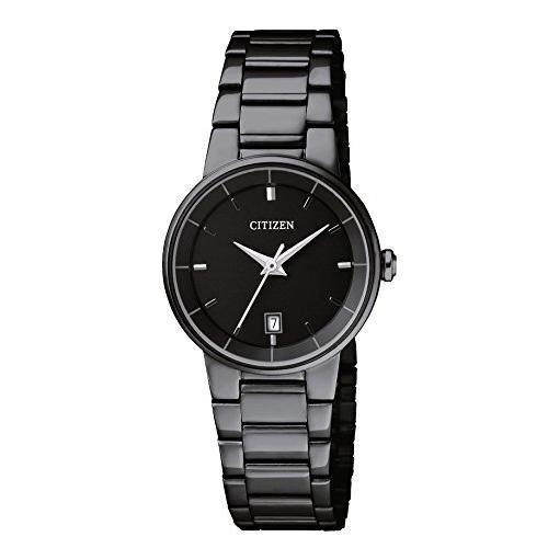 Citizen Women's ' Quartz Stainless Steel Casual Watch, Color:Black (Model: EU6017-54E) (Citizen Black Dial Women compare prices)