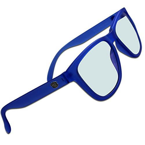 Eye Love Blue Blocking Glasses Inside | Transition Into Sunglasses Outside (Blue Unbreakable Frames | Blue Blocking Glasses Inside | Gray Sunglasses - Rays Glasses Colored