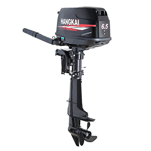 HANGKAI 6.5HP Outboard Boat Motor Engine 4-Stroke Updated with Water Cooling System