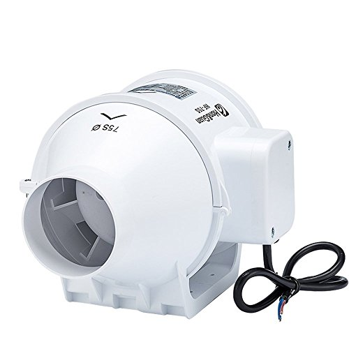 Hg power 3 inch inline duct fan booster fan plastic - Bathroom exhaust fan 3 inch duct ...