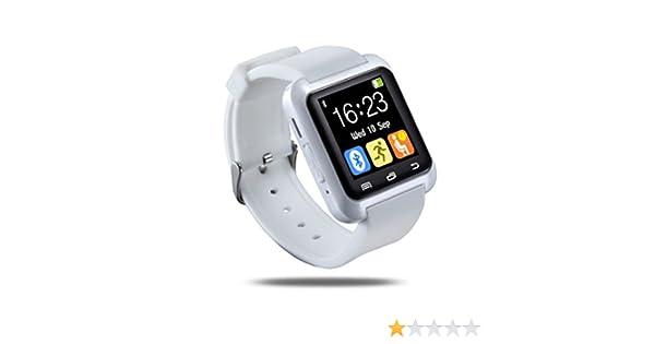 Ceweal® U80 Bluetooth Smart Watch Inteligente Arco Reloj Teléfono Compañero para Android IOS Iphone Samsung LG HTC Blanco: Amazon.es: Electrónica