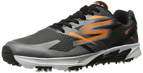 Skechers Performance Men's Go Golf Blade Golf Shoe, Orange/Charcoal, 9.5 M US