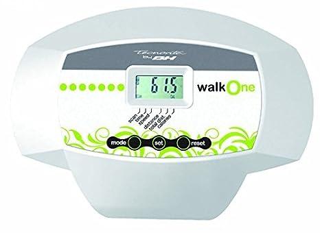 Tecnovita by BH WALK ONE YF30, Cinta para andar con monitor LCD y ruedas de transporte, blanco