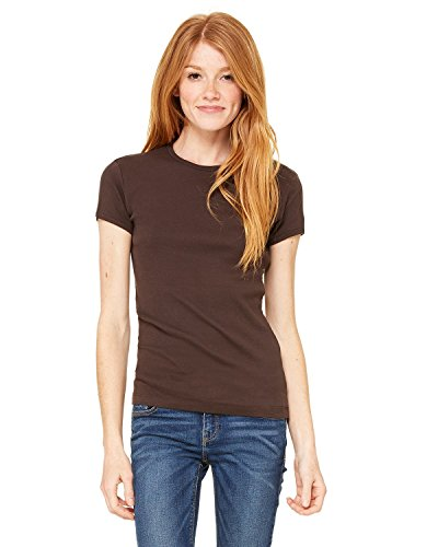 - Product of Brand Bella + Canvas Ladies Baby Rib Short-Sleeve T-Shirt - Chocolate - L - (Instant Savings of 5% & More)