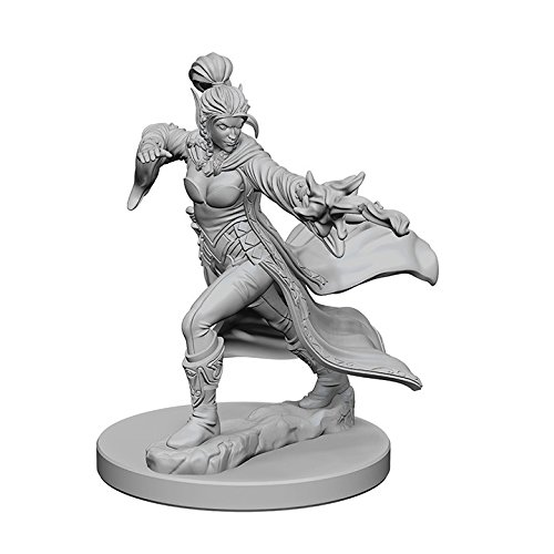 WizKids Pathfinder: Deep Cuts Unpainted Miniatures: Elf Female Sorcerer