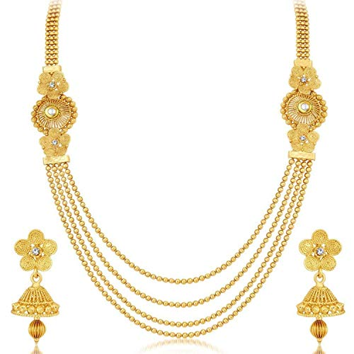 Designer Costumes Jewellery India - Efulgenz Indian Bollywood Multi Layered Traditional