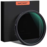 K&F Concept 62mm Fader ND Filter Without Cross, Neutral Density Variable Filter ND2 to ND32 for Camera Lens NO X Spot,Nanotec,Ultra-Slim,Weather-Sealed