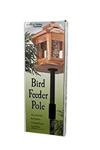 Bird Feeder Pole Kit Heavy Duty Steel 5'