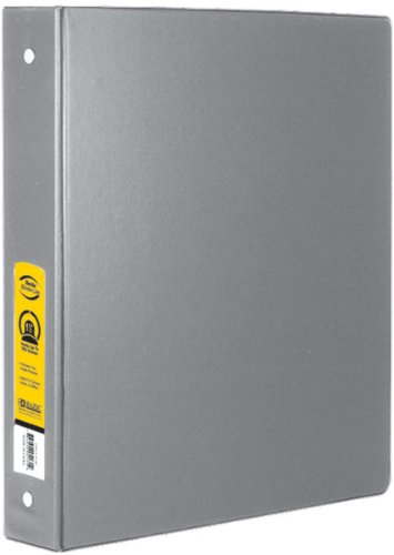 Bazic 1'''' Grey 3-Ring Binder with 2-Pockets Case Pack 12 Computers, Electronics, Office Supplies, Computing by Bazic