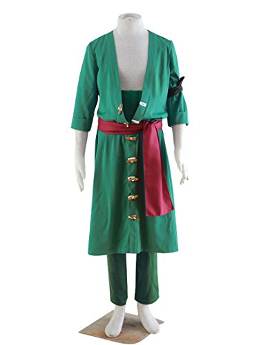 [Dazcos One Piece Roronoa Zoro 2nd Cosplay Costume (Men L)] (Roronoa Zoro Costumes)