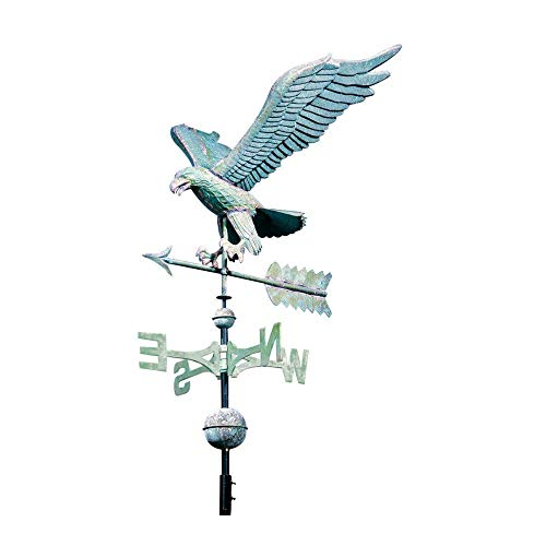 Whitehall Products Full-Bodied Eagle Weathervane, 30-Inch, Verdigris ()