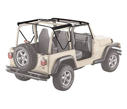 Soft Top Hardware (Bestop 55002-01 Black Factory Style Bow Kit for 1997-2006 Wrangler TJ)