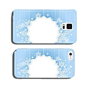 Winter Beautiful Background with Snow Flakes White Space cell phone cover case Samsung S5