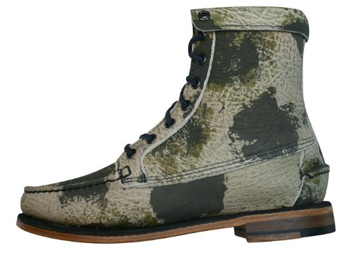 Sebago Kowloon Womens Leder Ankle Boots / Schuh - Camouflage