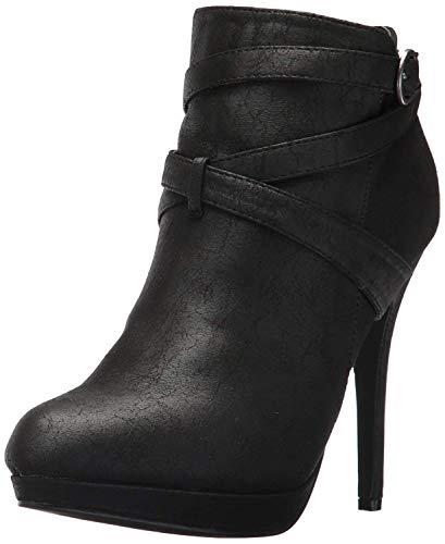 - Michael Antonio Women's Peeps Ankle Bootie, Black, 10 W US