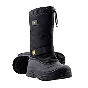 ArcticShield Mens Cold Weather Waterproof Durable Insulated Tall Winter Snow Boots Black