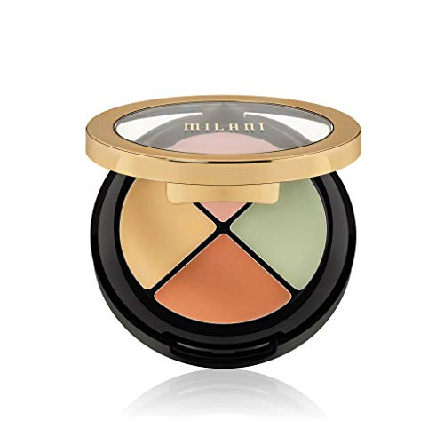 Milani Conceal + Perfect All-In-One Correcting Kit (0.42 Ounce) 4 Correcting Colors in One Palette to Conceal Redness, Dark Spots, Under Eye Circles & Discoloration