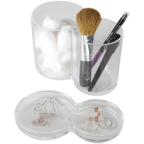 ARAD Acrylic Cotton Ball Holder, Storage Cotton Balls, Bathroom Storage,  Makeup Organizer,