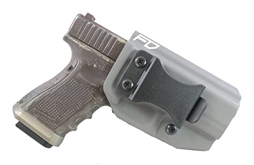"Fierce Defender IWB (Inside Waistband) Kydex Holster Glock 19 23 32""Winter Warrior Series -Made in USA- (Gunmetal Grey) GEN 5 Compatible!"